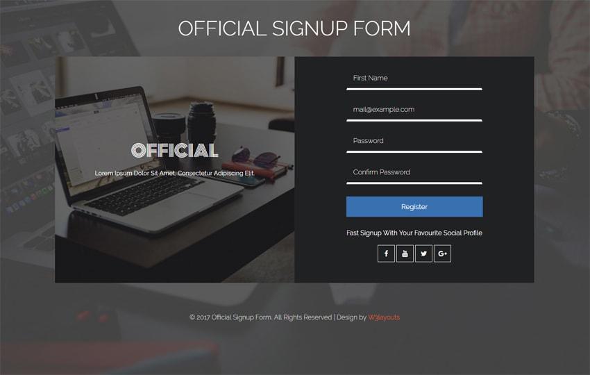 Form đăng nhập Bootstrap mẫu 2