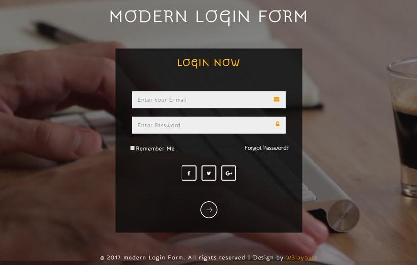 Form đăng nhập Bootstrap mẫu 4