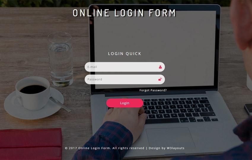 Form đăng nhập Bootstrap mẫu 5
