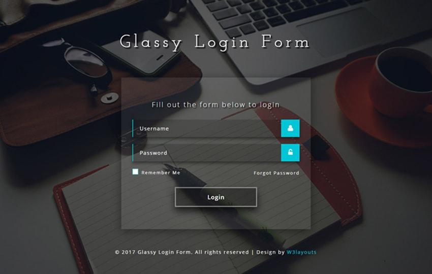 Form đăng nhập Bootstrap mẫu 6