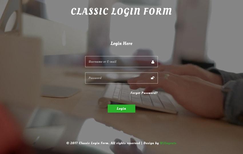 Form đăng nhập Bootstrap mẫu 8