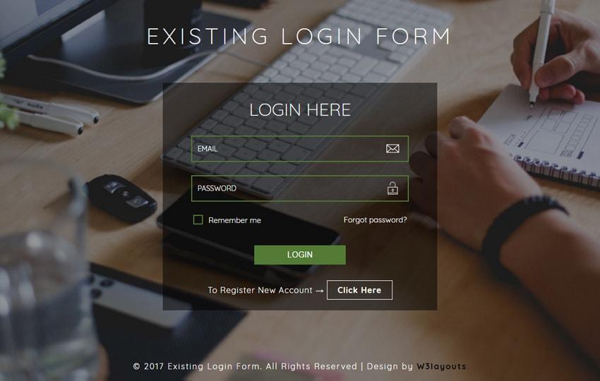 Form đăng nhập Bootstrap mẫu 10