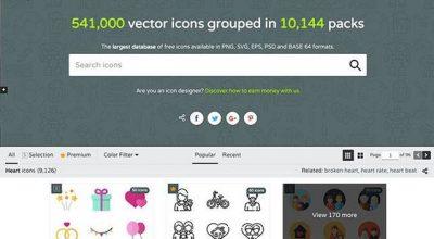 5 website tải icon miễn phí cho thiết kế web và ứng dụng