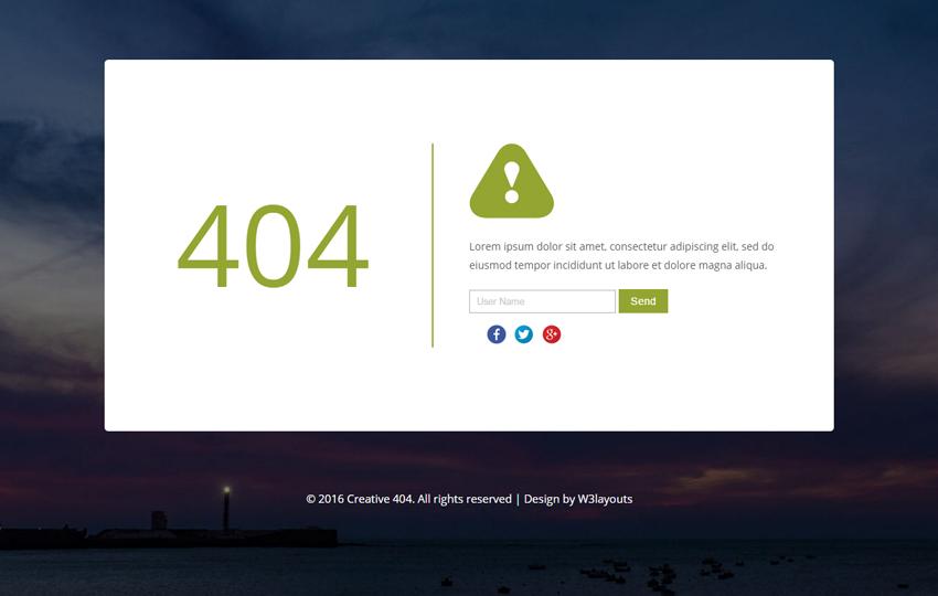 giao diện trang 404