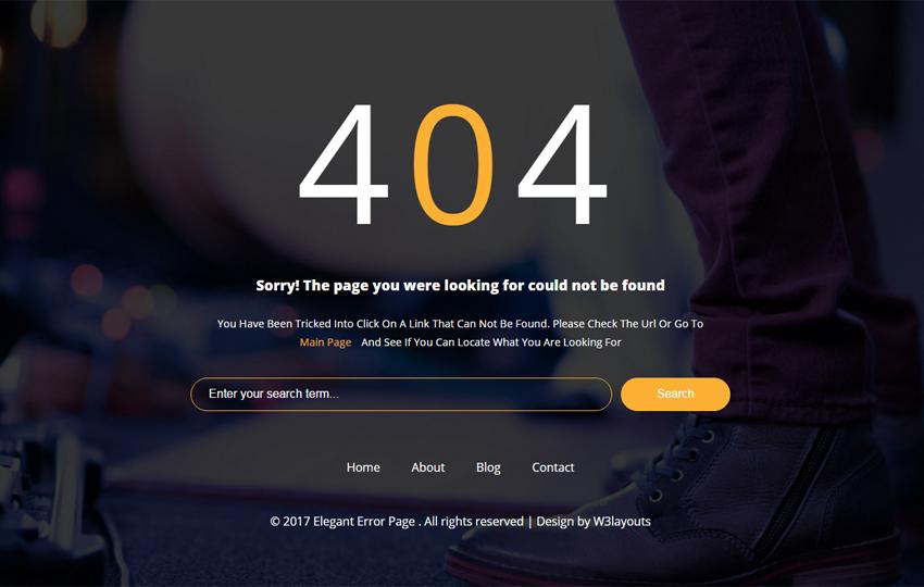 Share code 10 giao diện trang báo lỗi 404 cực đẹp chuẩn responsive
