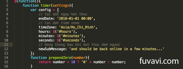 Code đếm ngược kết hợp hiệu ứng pháo hoa nhân dịp năm mới