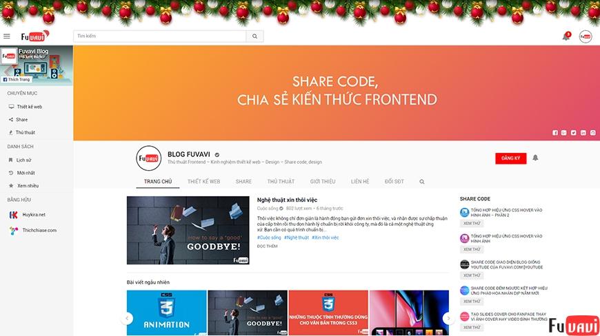 Share plugin trang trí noel cho website wordpress